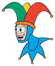 Cartoon jester a classic with a funny smiley face Royalty Free Stock Image