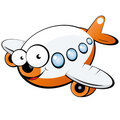 Cartoon jet aircraft Royalty Free Stock Photo