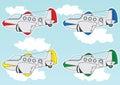 Cartoon jet set Royalty Free Stock Photo