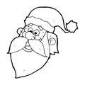 Cartoon Jolly Santa Claus Face
