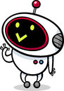 Cartoon kawaii robot illustration of style cute or droid Stock Images