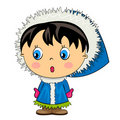 Cartoon kid. baby girl isolated character Stock Photo