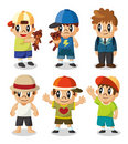 Cartoon kid icon set Stock Photos
