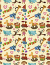 Cartoon kid toy seamless pattern Royalty Free Stock Photos