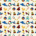 Cartoon kid toy seamless pattern Royalty Free Stock Images