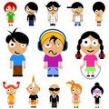 Cartoon kid vector Royalty Free Stock Photo