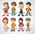 Cartoon kids Royalty Free Stock Photo