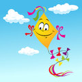 Cartoon Kite Smiling Face