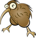 Cartoon kiwi bird Stock Photo