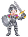 Cartoon Knight Girl Royalty Free Stock Photo