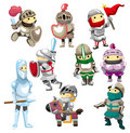 Cartoon Knight icon Stock Images