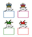 Cartoon labels 1 Royalty Free Stock Images