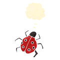 Cartoon ladybug Stock Images