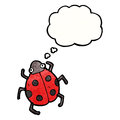Cartoon ladybug Royalty Free Stock Photography