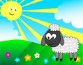 Cartoon lamb Royalty Free Stock Images