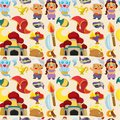 Cartoon Lamp of Aladdin seamless pattern Royalty Free Stock Photography