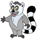 Cartoon lemur Stock Images