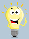 Cartoon light bulb illustration background Royalty Free Stock Photo