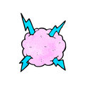 Cartoon lighting storm cloud symbol Stock Photos