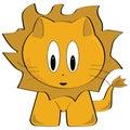 Cartoon lion Royalty Free Stock Photography