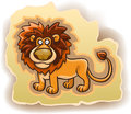 Cartoon lion on the background vector illustration white Royalty Free Stock Photography