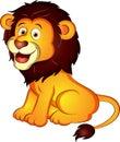 Cartoon Lion Vector Illustration Royalty Free Stock Photo