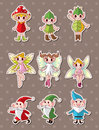 Cartoon little baby fairy stickers Stock Photo