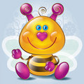 Cartoon little Bee Royalty Free Stock Photos