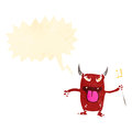 Cartoon little devil Royalty Free Stock Images