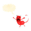 Cartoon little devil Stock Images