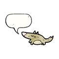 cartoon little dog with speech bubble