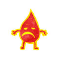 Cartoon little fire spirit Stock Photos