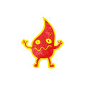 Cartoon little fire spirit Stock Image