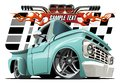 Cartoon Lowrider Royalty Free Stock Photo