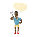 Cartoon lumberjack with speech bubble Royalty Free Stock Image