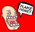 Cartoon make money Stock Photo