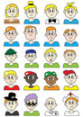 Cartoon Male Colorful Set_eps Stock Photos
