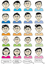 Cartoon Male Set_eps Stock Images