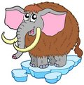 Cartoon mammoth Royalty Free Stock Images