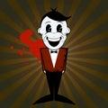 Cartoon man with bow tie Royalty Free Stock Photo