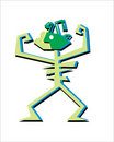 Cartoon man figure, vector Royalty Free Stock Photography