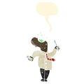 Cartoon man gargling mouth wash Royalty Free Stock Photo