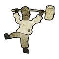 Cartoon man with hammer Royalty Free Stock Image