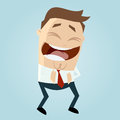 Cartoon man laughing funny illustration of a Royalty Free Stock Images