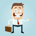 Cartoon man with suitcase funny illustration of a Royalty Free Stock Photos