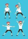 Cartoon Man Warm-up Stretching Exercises Royalty Free Stock Photo