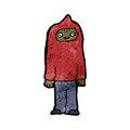 cartoon man wearing hooded top Royalty Free Stock Photo