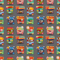 Cartoon market store car seamless pattern Royalty Free Stock Image