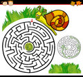 Cartoon maze or labyrinth game Royalty Free Stock Photo