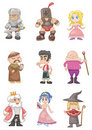 Cartoon medieval people Royalty Free Stock Images